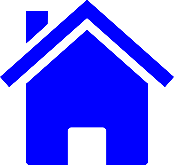 14 Blue House Icon Clip Art Images