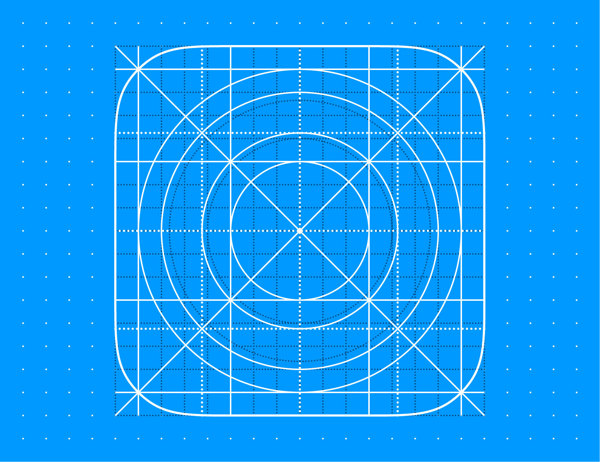 Grid Icon Template iOS 8