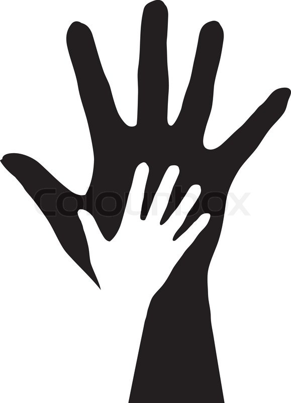 7 Helping Hand Silhouette Vector Images