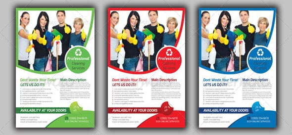 House Cleaning Service Flyers Templates