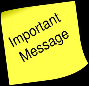 Important Message Clip Art