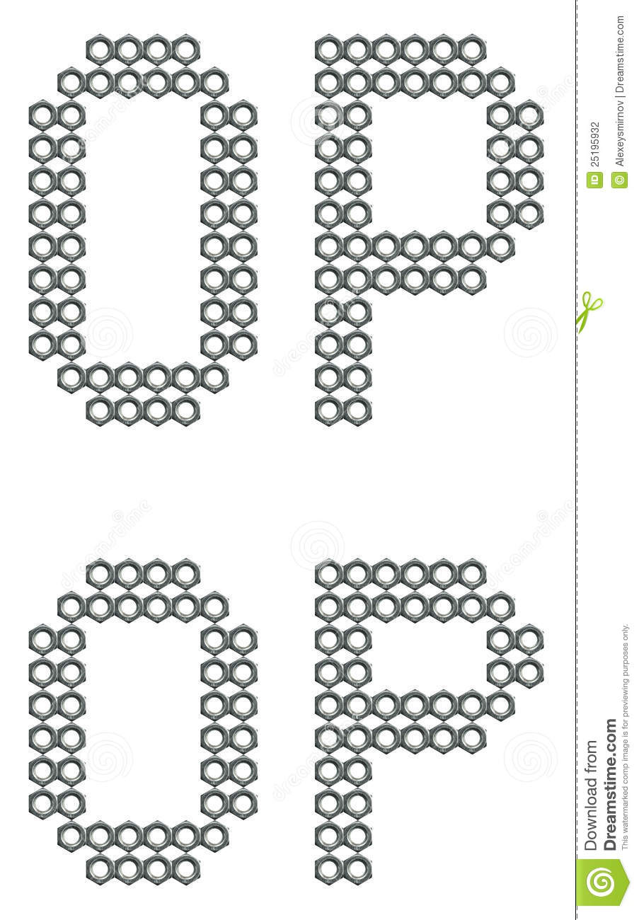 Industrial Letter Font Alphabet