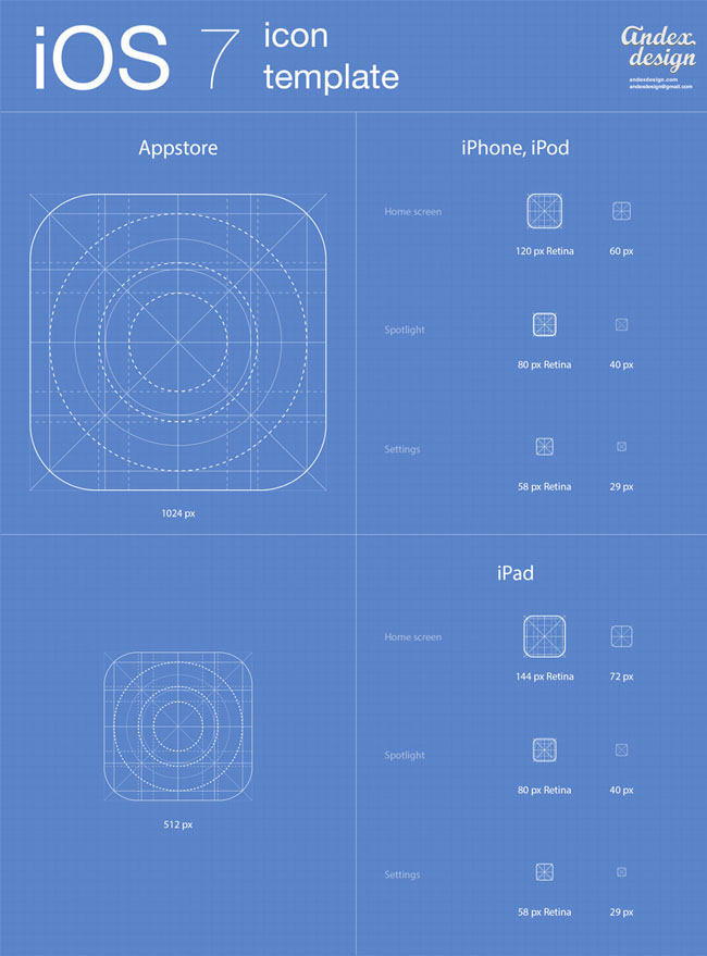 iOS 7 App Icon Template
