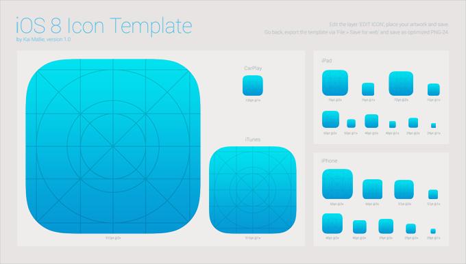 iOS 8 App Icon Template