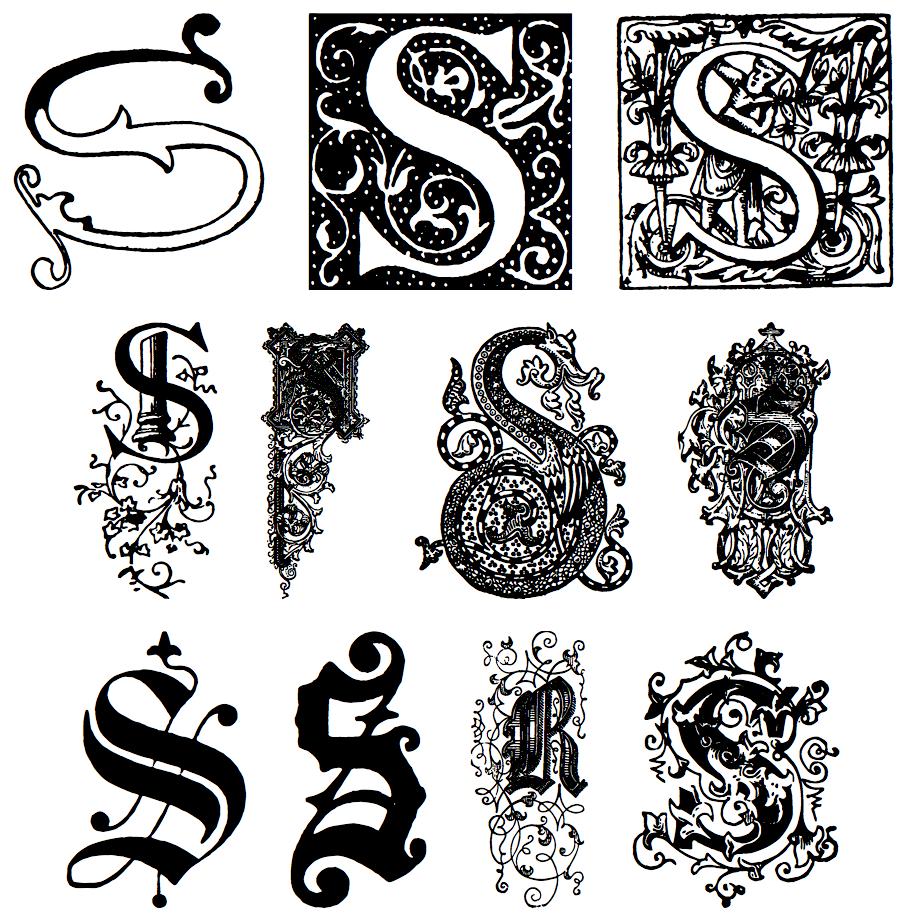 6 Font Decorative Initials Images