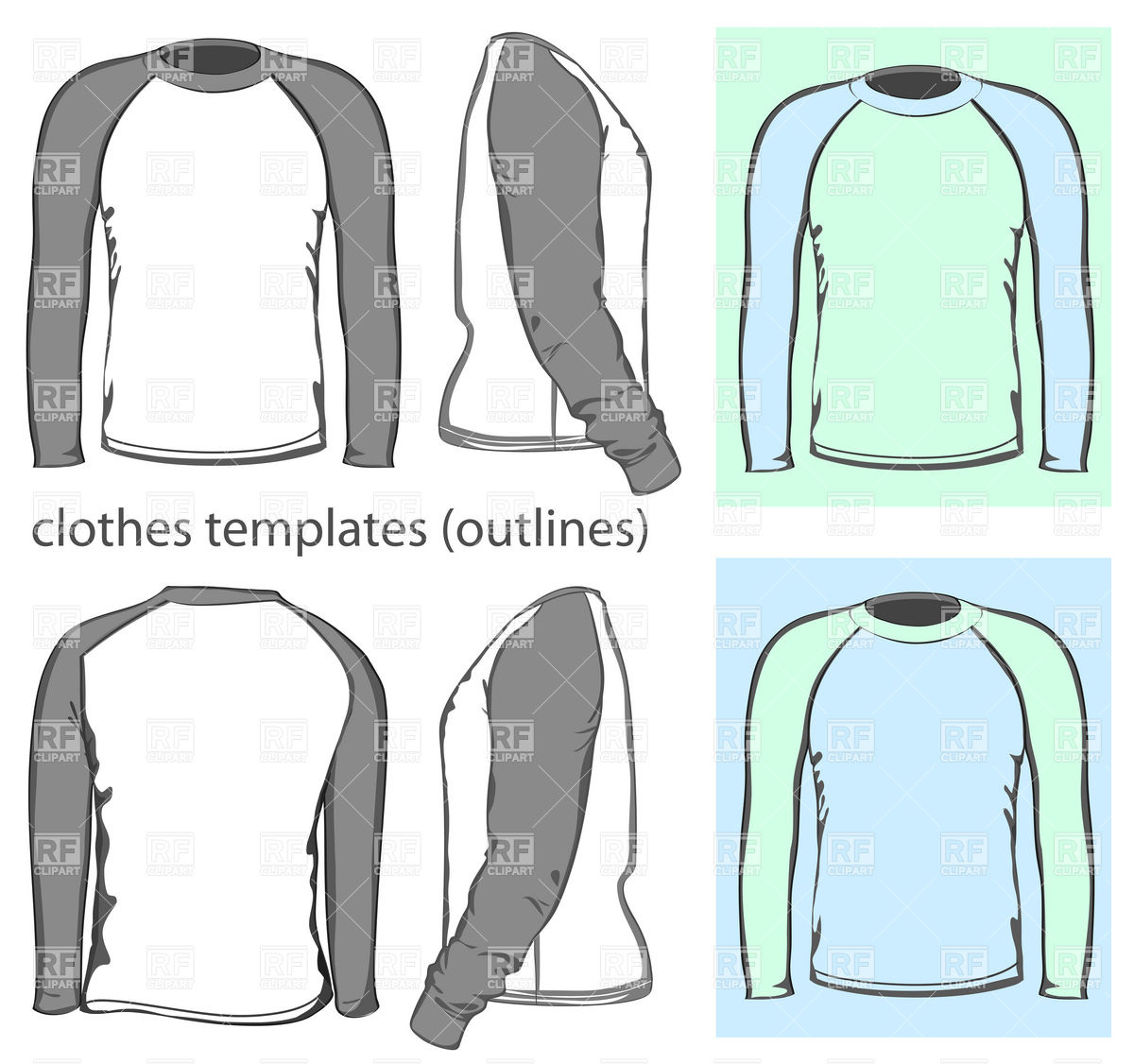 14 Long Sleeve T-Shirt Vector Images
