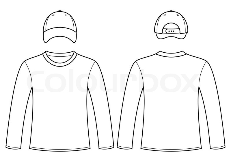 full size t shirt template - 14 long sleeve t shirt vector images long sleeve shirt