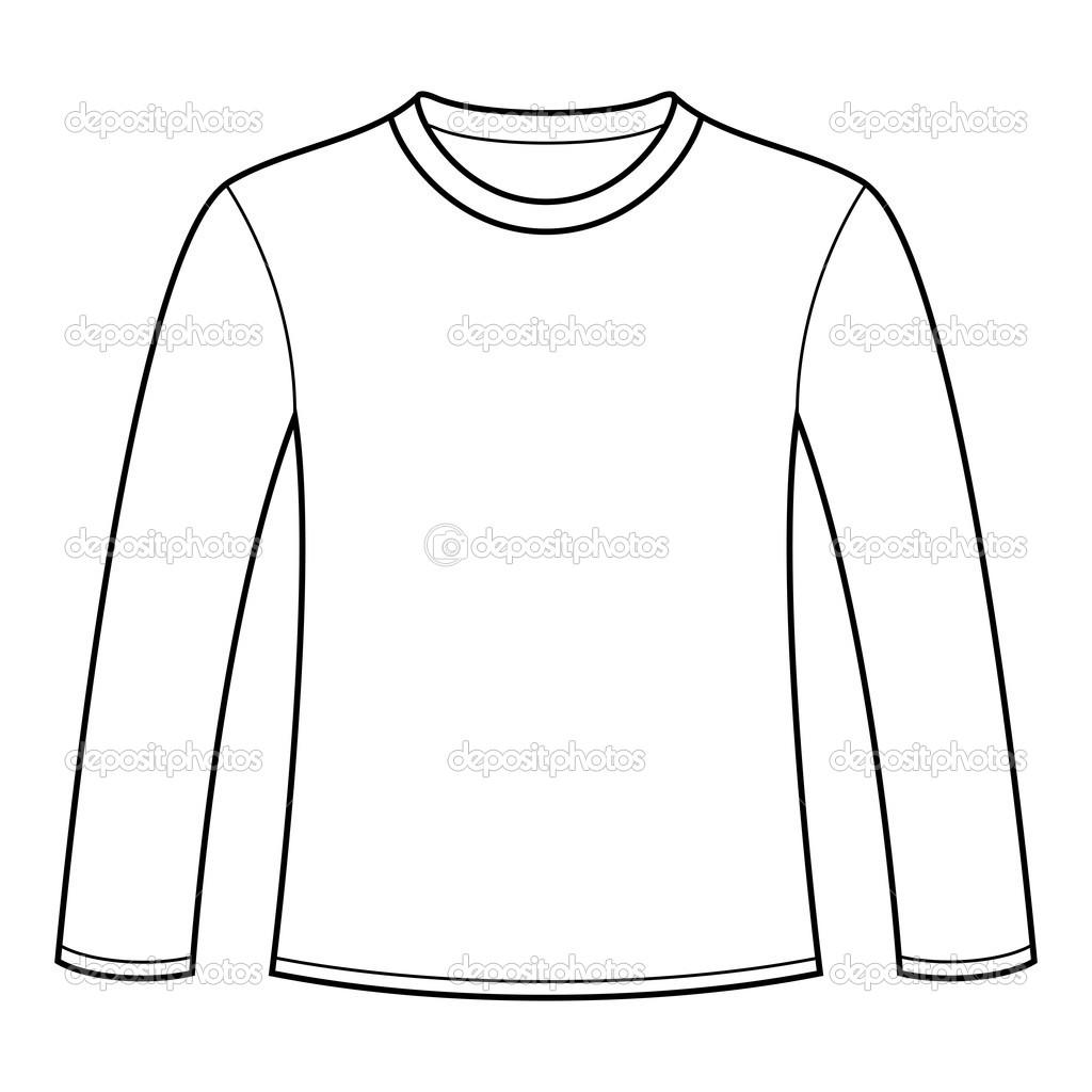 14 long sleeve t shirt vector images long sleeve shirt for Long sleeve t shirt template illustrator