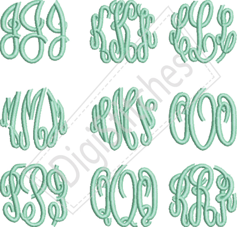 12 Monogram Embroidery Fonts Images - Free Monogram Embroidery Fonts