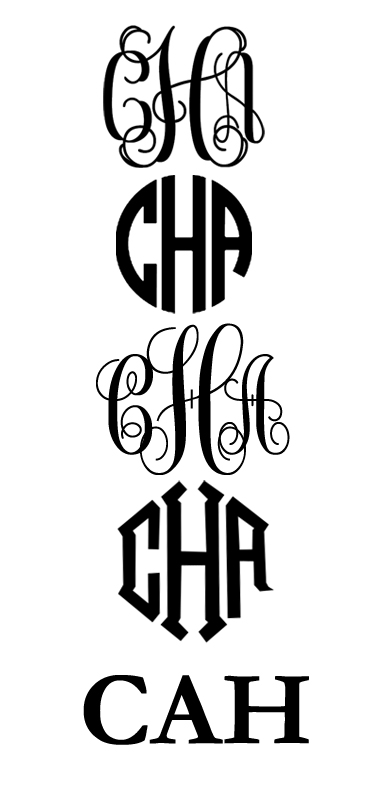 Make Your Own Monogram Font