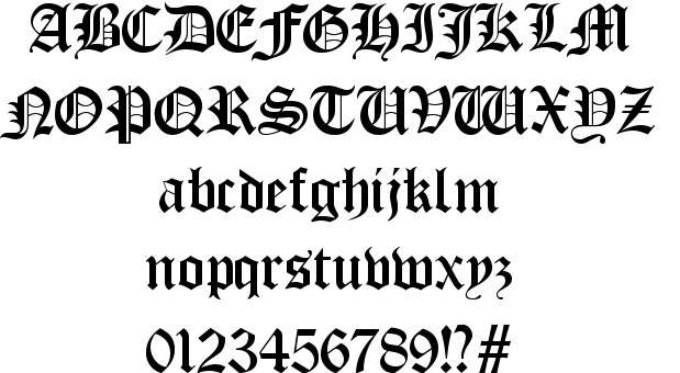 Gothic fonts for microsoft word images free