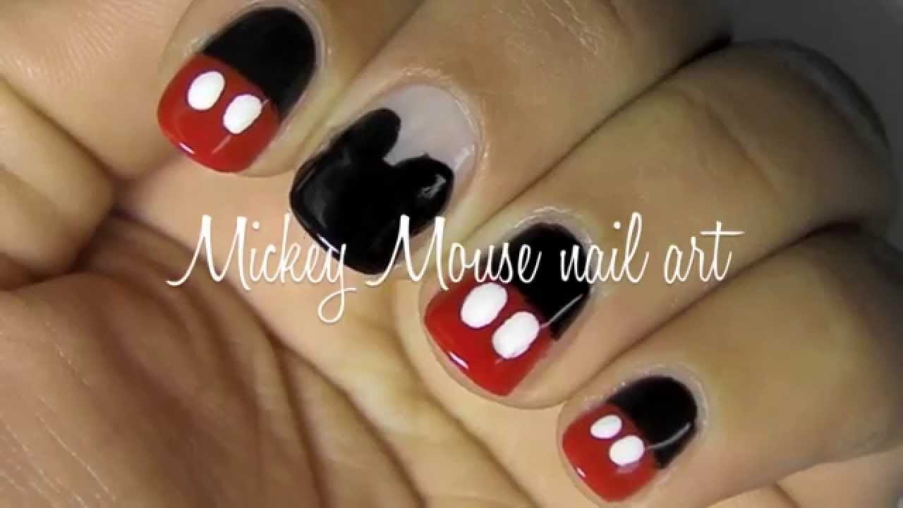 15 Mickey Mouse Nail Art Designs Images - Mickey Mouse Nail Art ...