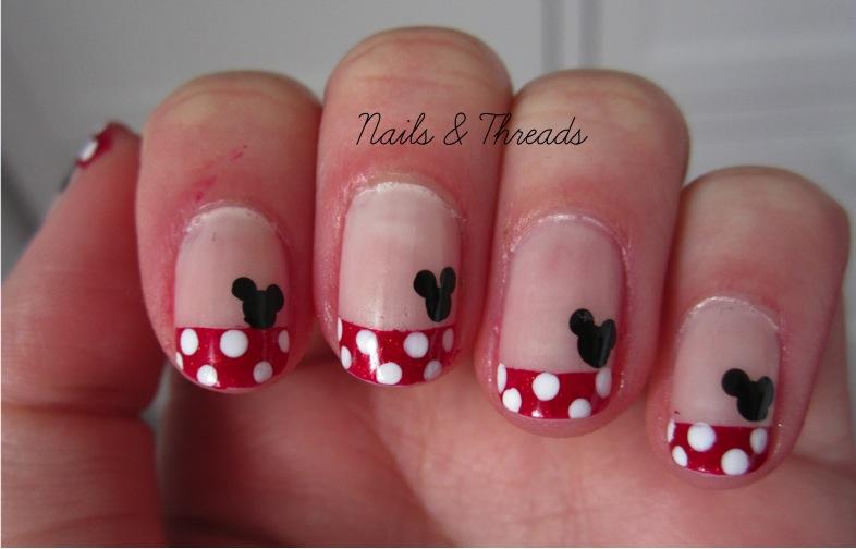 Minnie Mouse Nail Art Easy Nailarts Ideas