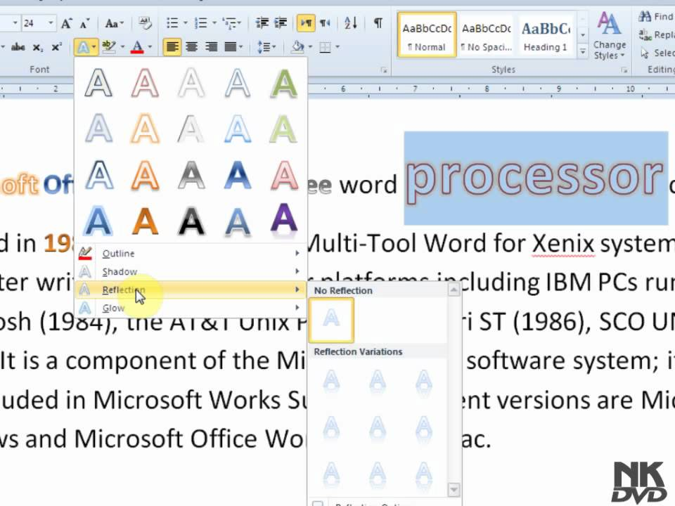 14 Font Effect In Word Images - Text Effect Word 2013