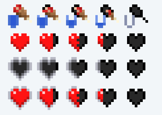 Minecraft Health Bar Heart