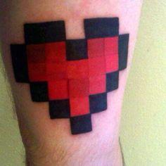 Minecraft Heart Tattoo