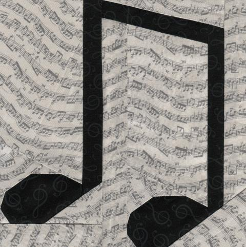 17 Musical Notes Quilting Designs Images