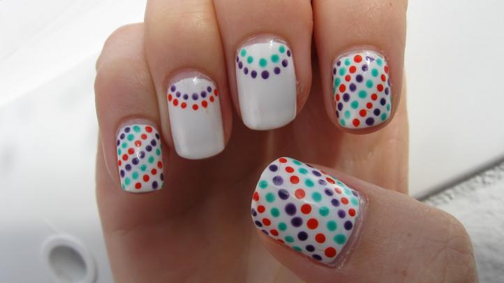 15 Dot Nail Designs Images