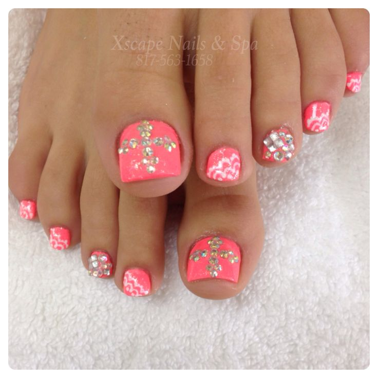 11 Cute Nail Designs With Rhinestones Images