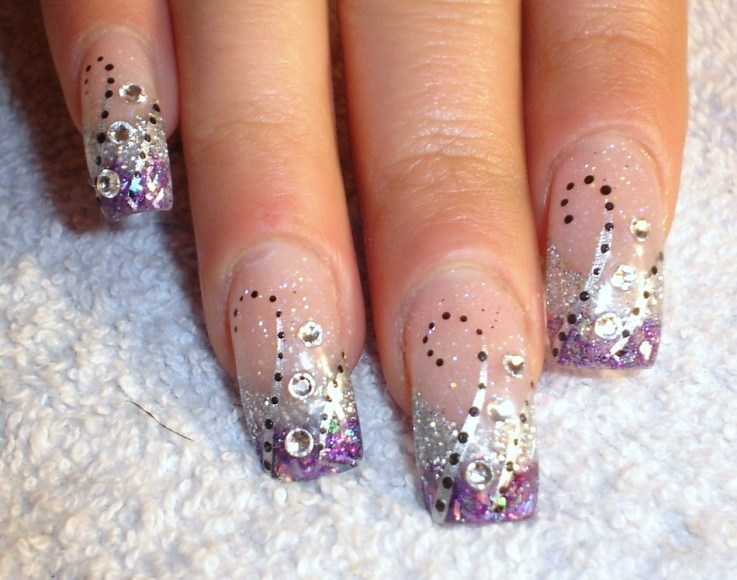 11 Cute New Year\u0027s Nail Designs Images , Black and Glitter