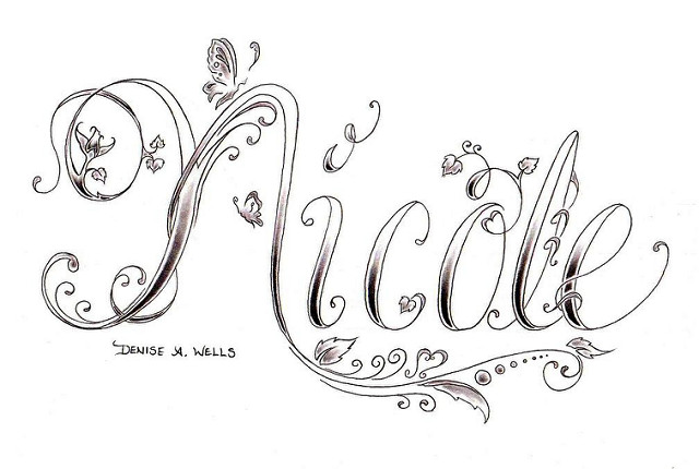Design Names Ideas name tag design ideas Nicole Name Design Tattoo
