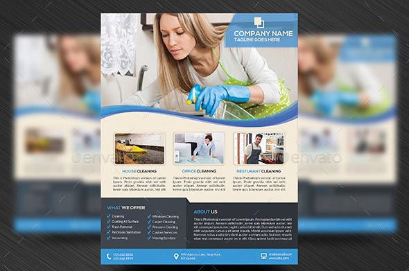 Office Cleaning Services Flyer Templates