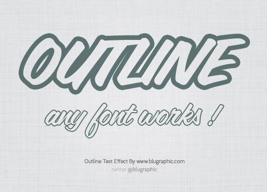 10 Outline Text Effect PSD Images
