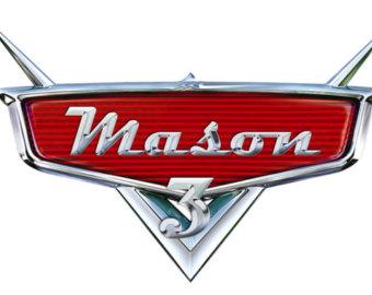 Personalized Disney Cars Logo
