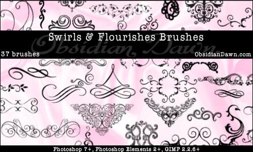 Photoshop Swirl Brushes Free Download