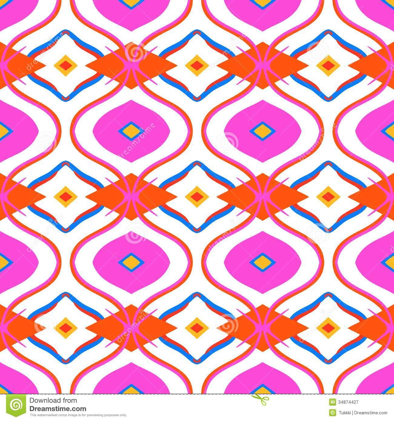Pink tribal print background