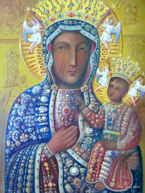 12 Poland Religious Icons Images Polish Black Madonna