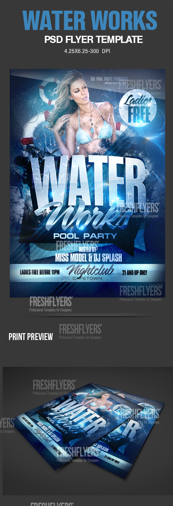 18 Water PSD Party Flyers Images