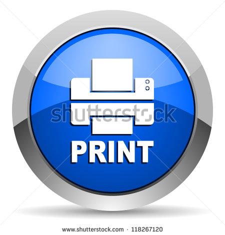 Print Button Icon Printer