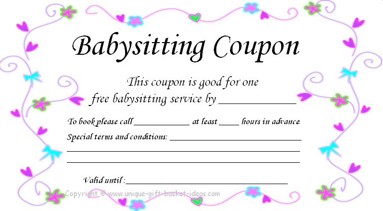 17 Blank Babysitting Card Template
