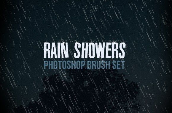 15 Rain Brush For Photoshop Images