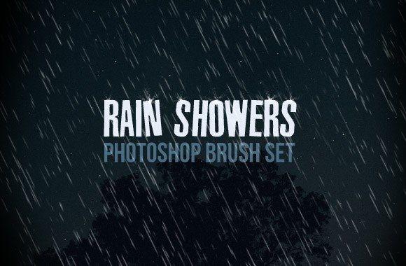 15 Rain Brush For Photoshop Images