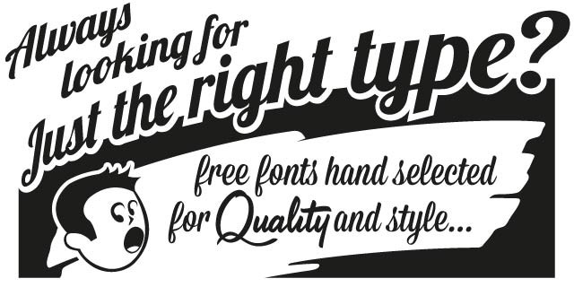 Retro Vintage Advertising Fonts Free