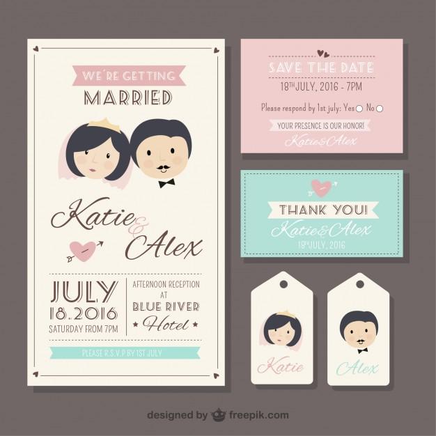 Retro Wedding Stationery