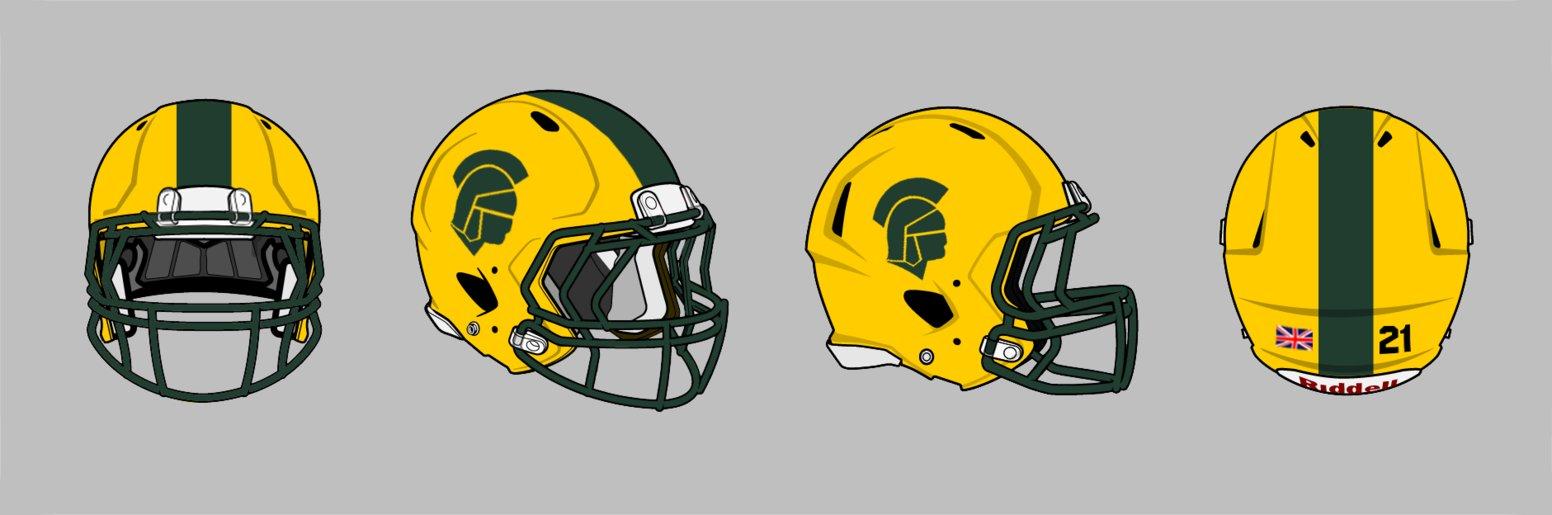 Revo Speed Football Helmet Blank Template