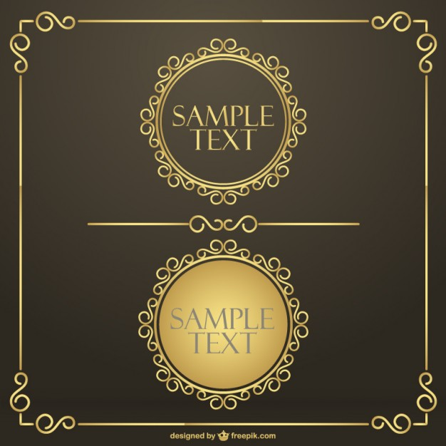 6 Vector Gold Frame Green Images