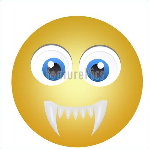 Scary Face Emoticon