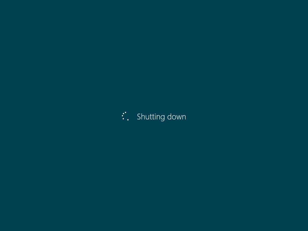 Shutting Down Windows 8
