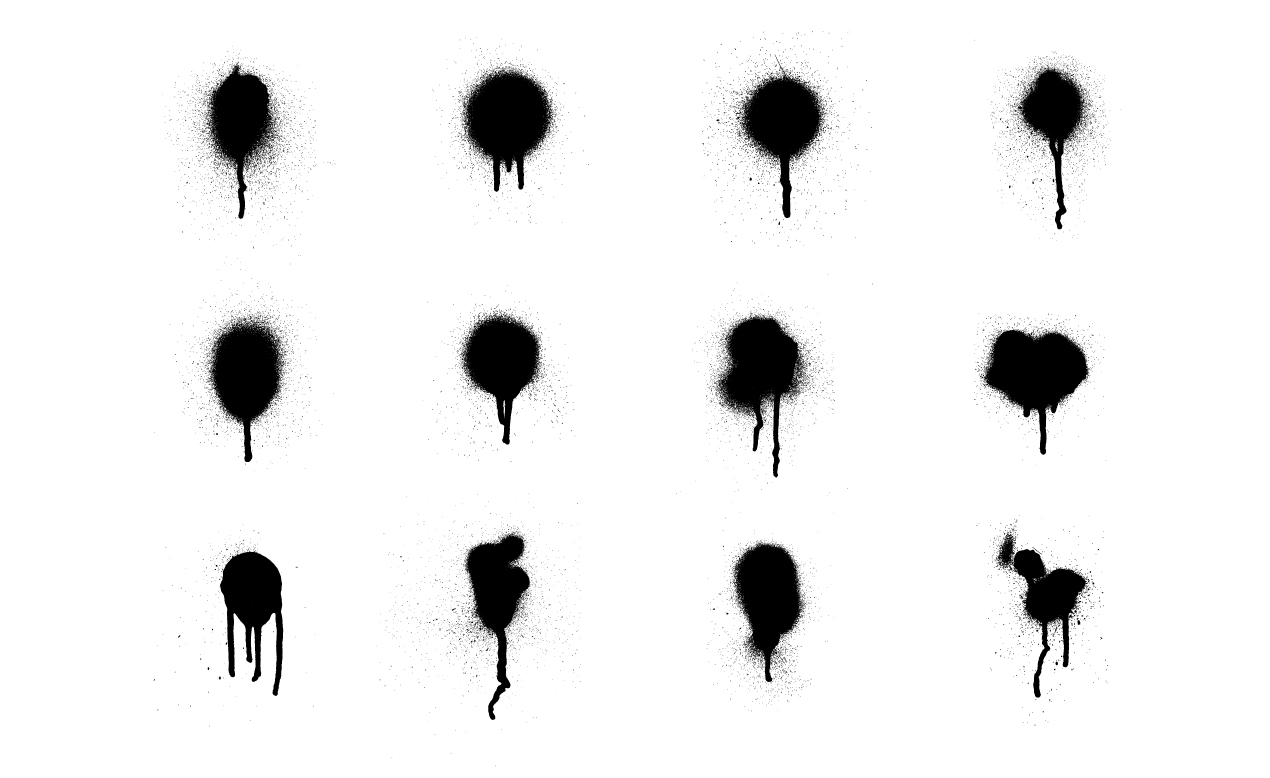 8 Spray-Paint Drip Vector Images