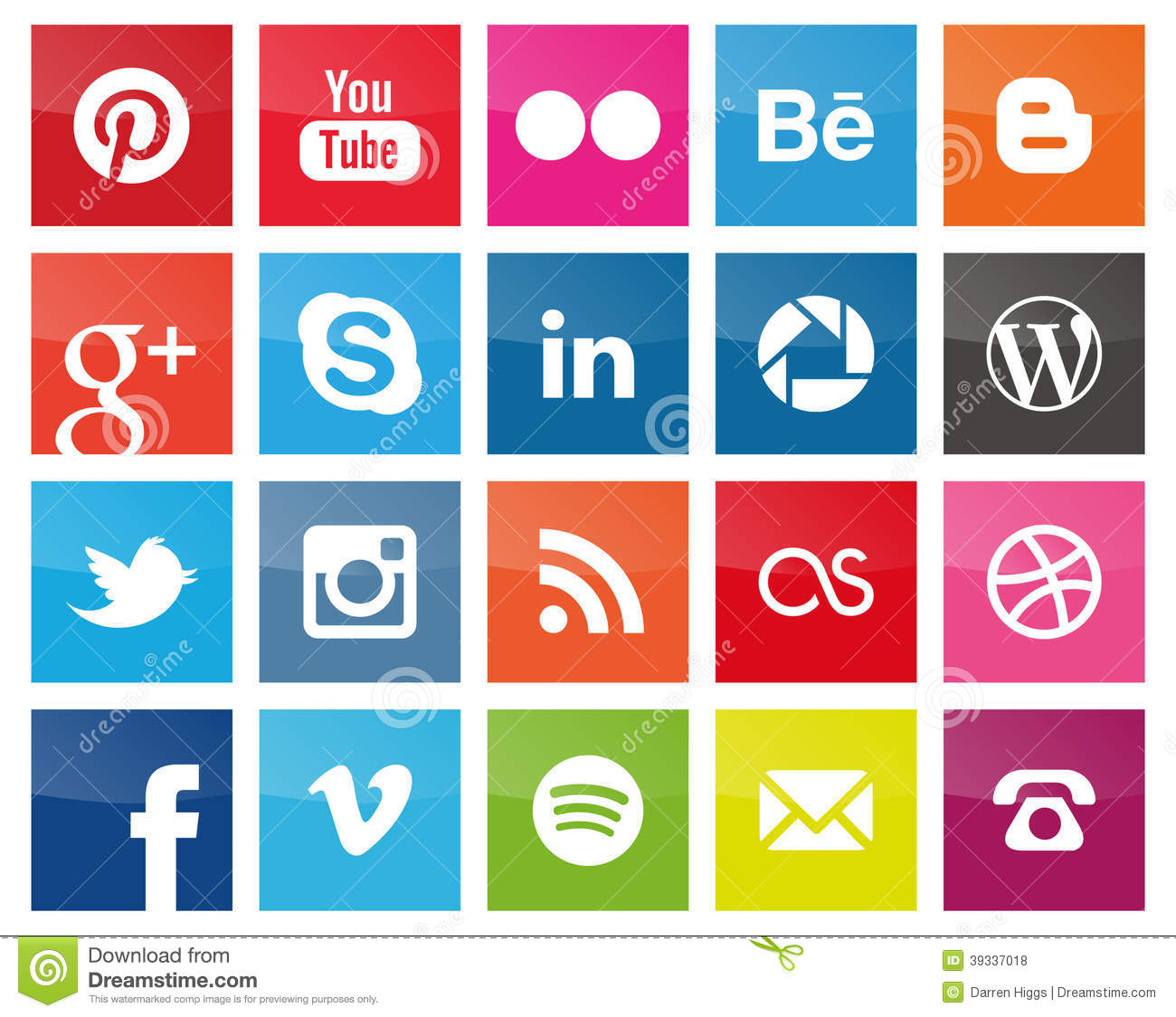 17 Pinterest Social Media Icon Square Images