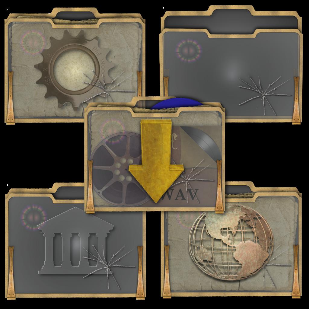 Steampunk Mac Folder Icons