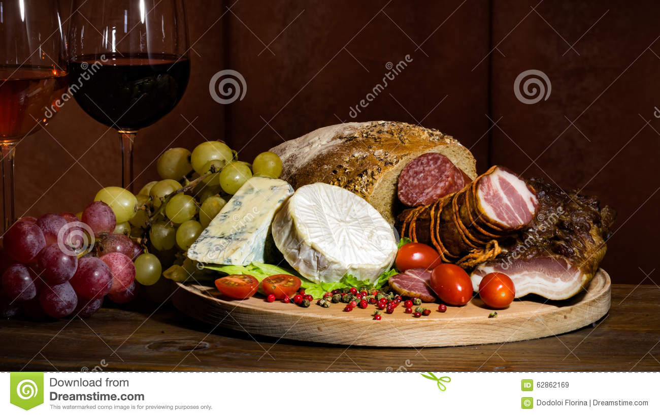 Stock Picture Wine Food