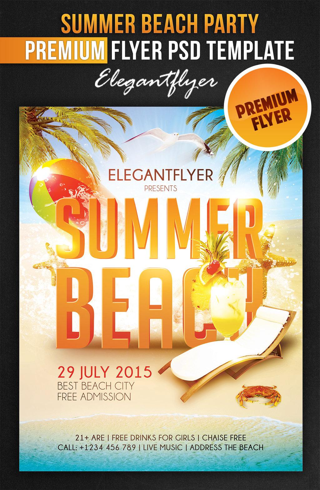 Fantastisch Strand Party Flyer Schablone Ideen - Bilder für das ...