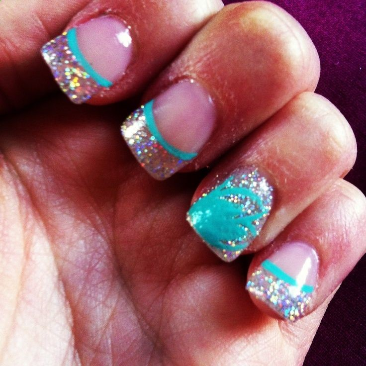 Teal Acrylic Nail Designs