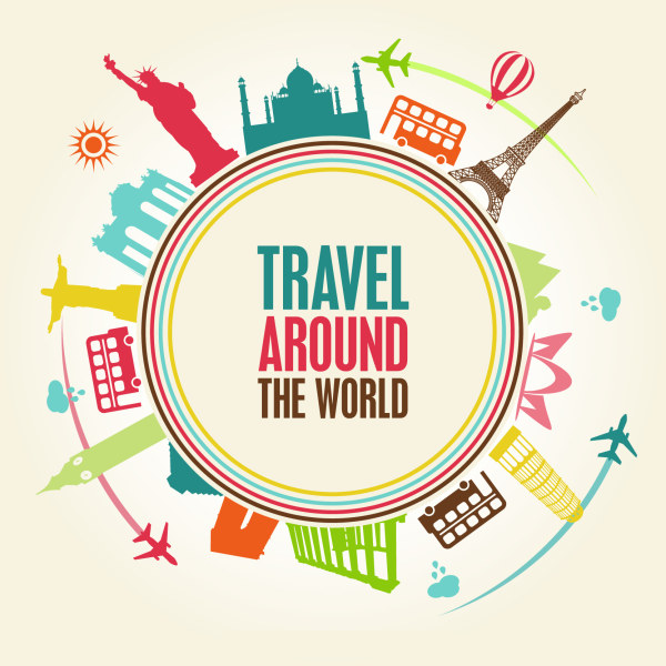 Travel around the World Vector