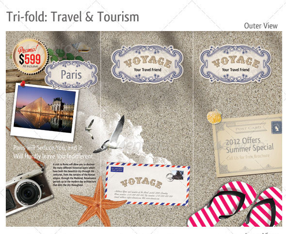 tri fold travel brochure template - 12 psd catalog product images product catalog design